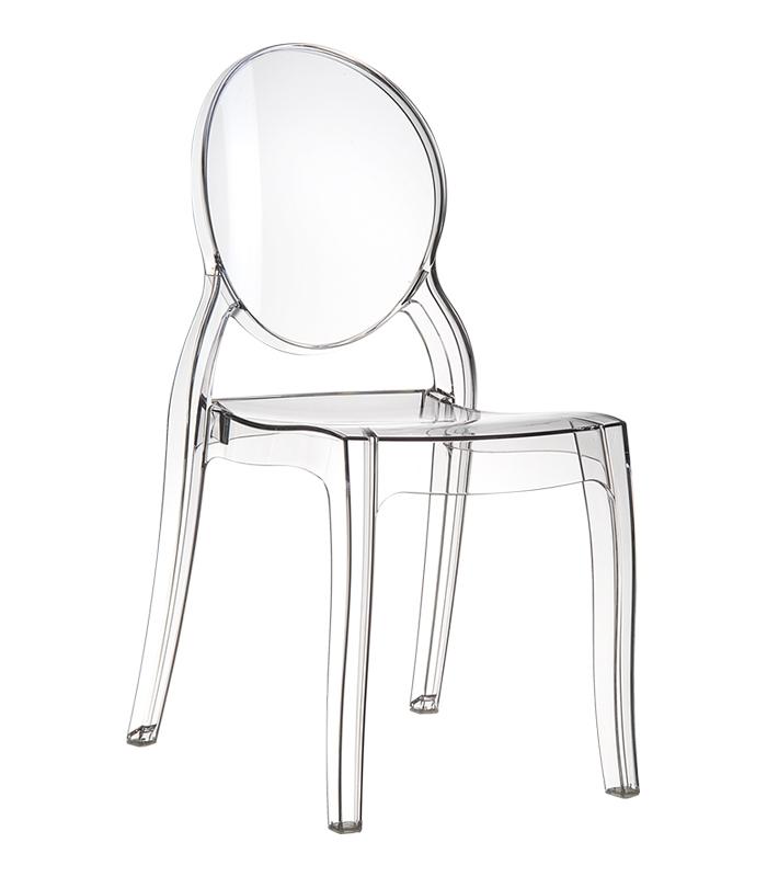 Chaise elizabeth transparente empilable en polycarbonate marque siesta - Chaise transparente elizabeth cosy ...