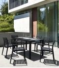 Table en résine ARES 80 X 140 cm