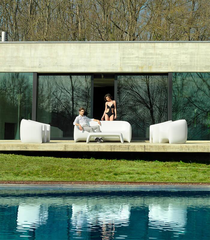 Salon de jardin résine BLOW - Bain de soleil Marina