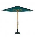 Parasol bois rond 3 m
