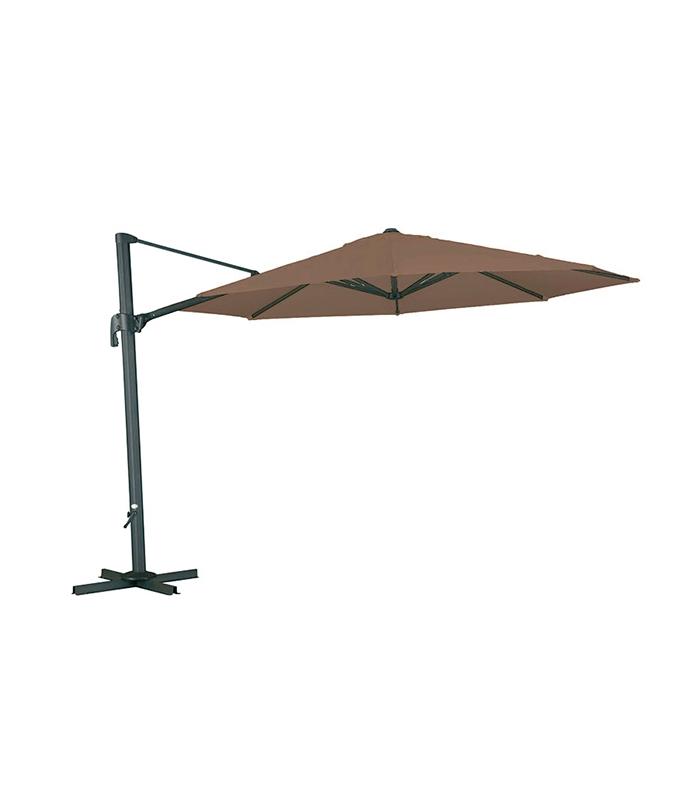 parasol rond d port aluminium et toile diam tre 3 50 m. Black Bedroom Furniture Sets. Home Design Ideas