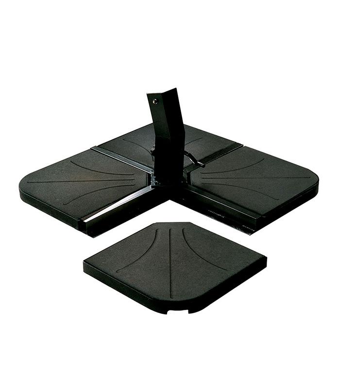 poids parasol ciment noir de 25 kg sp cial pied en croix. Black Bedroom Furniture Sets. Home Design Ideas