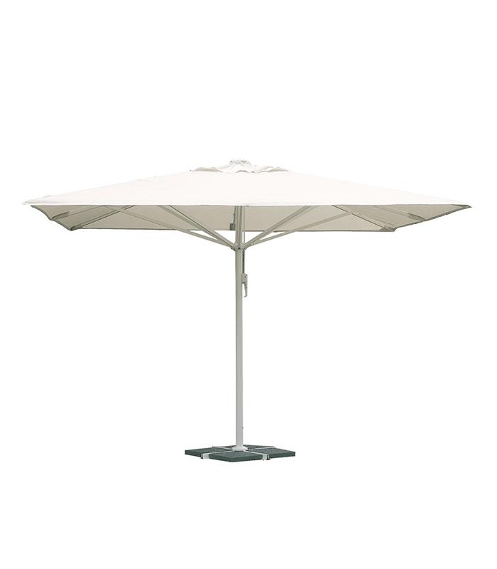 parasol professionnel carr 4x4 m alu et toile coloris. Black Bedroom Furniture Sets. Home Design Ideas
