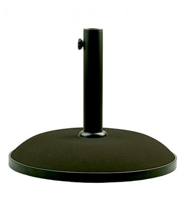 Pied de parasol rond ciment noir 15 kg