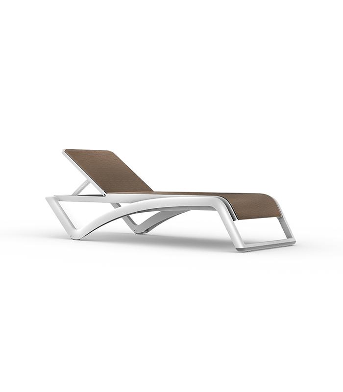chaise longue sky resol structure r sine et toile textile. Black Bedroom Furniture Sets. Home Design Ideas