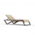 Chaise longue extérieur design SKY Wengé