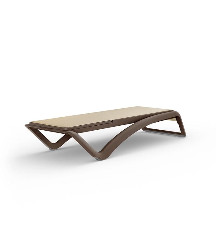 Chaise Longue Weng Sky Resol Toile Textile Et Structure