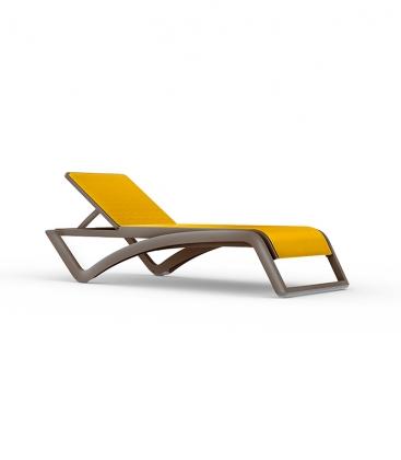 Chaise longue de jardin SKY Wengé