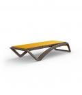 Chaise longue designer SKY Wengé