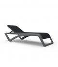 Chaise longue jardin SKY structure grise