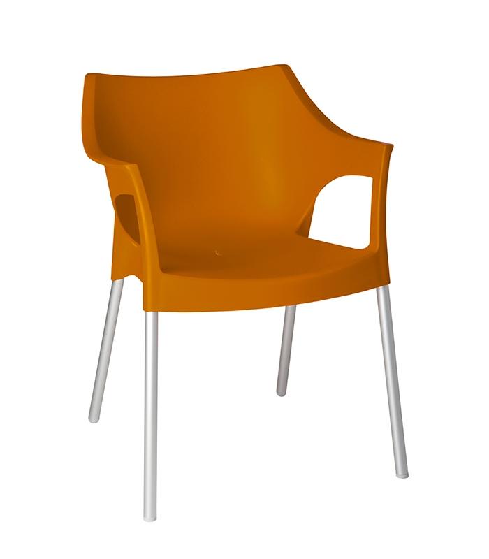 Fauteuil pole ext rieur plastique en r sine polypropyl ne for Bain de soleil fauteuil