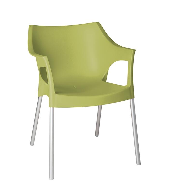 fauteuil pole ext rieur plastique et aluminium. Black Bedroom Furniture Sets. Home Design Ideas