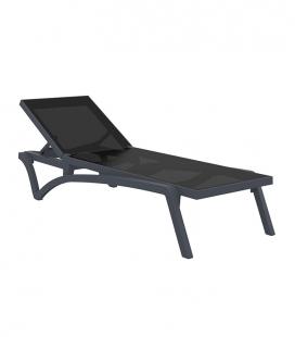 Chaise longue résine et toile CAPRI