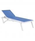 Chaise longue bleu CAPRI