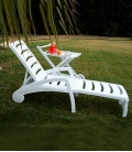 Bain de soleil plastique blanc IBIZA