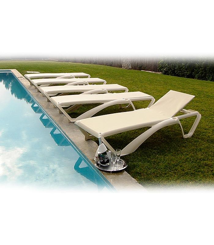 Bain de soleil empilable piscine marina for Transat piscine