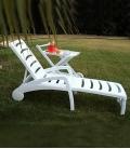 Bain de soleil en plastique blanc IBIZA