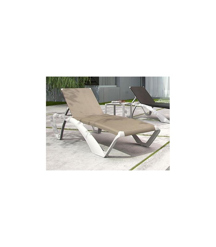 Bain de soleil marina light en r sine et toile textil ne for Fauteuil bain de soleil
