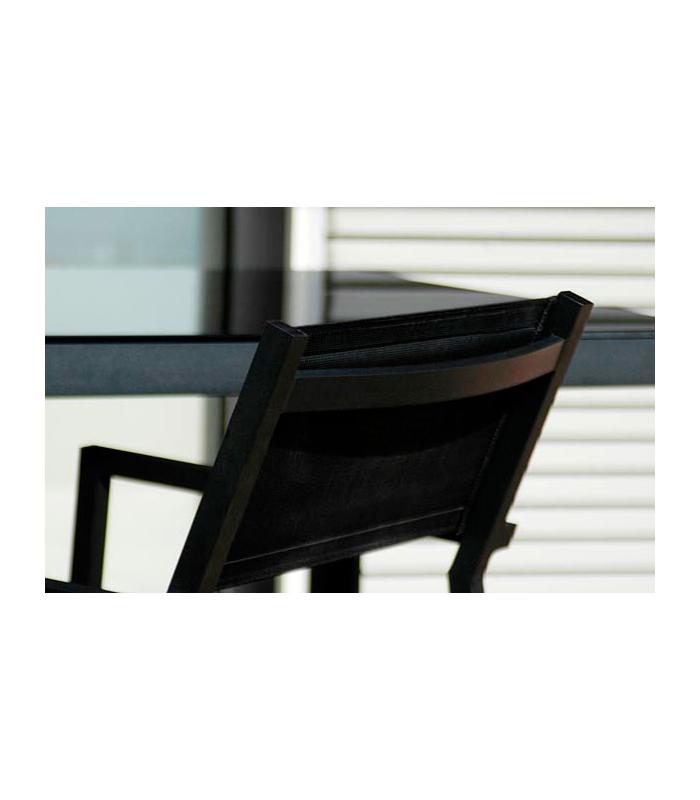 Fauteuil alu d 39 ext rieur empilable et toile mamba for Bain de soleil fauteuil
