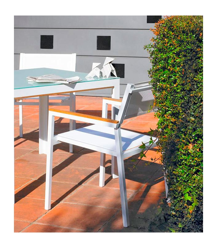 Fauteuil de jardin en aluminium shio for Fauteuil de jardin bain de soleil