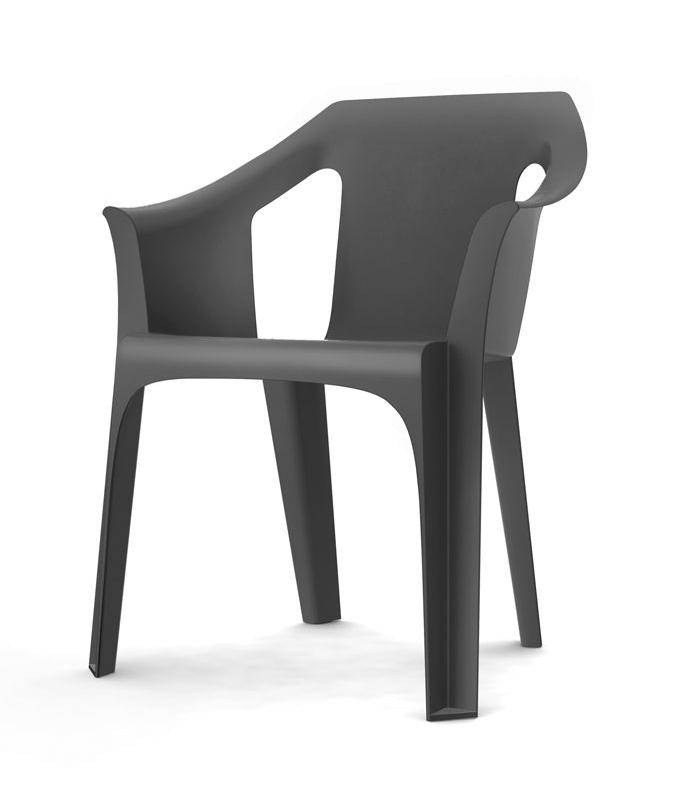 fauteuil plastique jardin empilable en r sine cool. Black Bedroom Furniture Sets. Home Design Ideas
