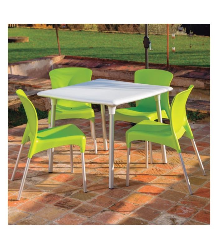 Set table et 4 chaises hey bain de soleil marina for Set table jardin