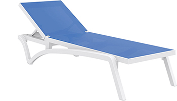 Chaise longue transat capri for Bain de soleil marina bleu
