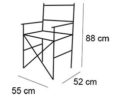 Fauteuil bois metteur en scène dimensions