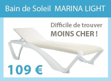 Bain de soleil mobilier de jardin de marques bain de for Bain de soleil marina bleu