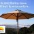 Parasol bambou Sirocco, une résistance aux vents à toute épreuve !